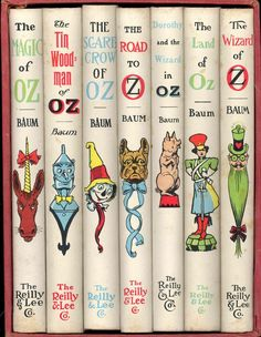 The Treasury of Oz [The Wizard of Oz ; The Land of Oz : a Sequel to The Wizard of Oz ; Dorothy and the Wizard in Oz ; The Tin Woodman of Oz ; The Road to Oz ; The Scarecrow of Oz ; The Magic of Oz] [The Wonderful Wizard of Oz; The Tin Woodsman of Oz] Magic Of Oz, Adornos Halloween, Land Of Oz, Ruby Slippers, Yellow Brick Road, Broadway, Emerald City, Vintage Children's Books, Children's Literature