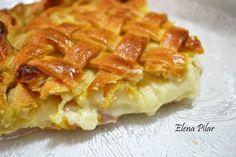Mi Recetario por Elena Pilar: Empanada cremosa de Bechamel, Jamón y Queso Havarti (receta de masa en Thermomix)