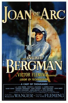Ingrid Bergman in 1948's retelling of Joan of Arc. #vintage #1940s #movies