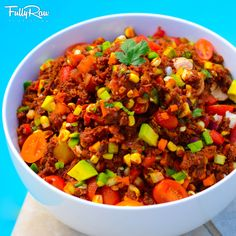 #FullyRaw Texas Style Vegan Chili! Hearty, satisfying, rich, low-fat, and fun, this bowl of epic deliciousness is a special treat to share with all your family and friends! Who's ready for some hot stuff?! NEW VIDEO HERE: http://youtu.be/gopVrZVMofU