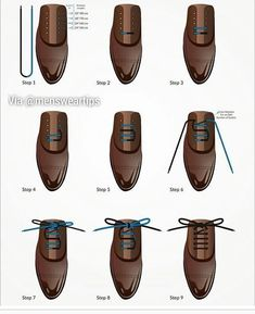 Here is a step by step guide to a straight bar lacing! By the cleanest looking way to tie your shoe lace in! Tag your friend for an easy style upgrade! #mensweartips