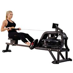 Discounted Sunny Health & Fitness Obsidian Surge 500 Water Rowing Machine - SF-RW5713 , Black #Black #SunnyHealth&FitnessObsidianSurge500WaterRowingMachine-SF-RW5713 Rowing Machines, Workout Machines, Home Rowing Machine, Fitness Machines, Exercise Machine, Rowing Workout, Yoga Workouts, Workout Tanks, Workout Gear