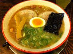 Tonkotsu Ramen : Kyushu Kurume style - rich and mellow pork bone soup - one of the most historic Japanese Ramen Noodle