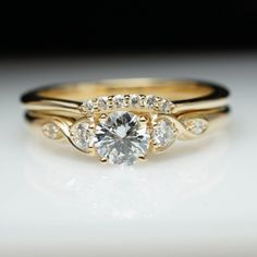 Vintage Antique Style Diamond Engagement Ring