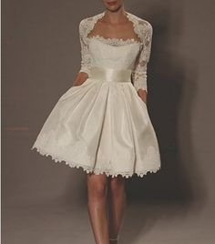 $110 + $25. New Short lace Wedding dresses Bridesmaid Prom Gown by VEILDRESS, $110.00