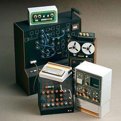 dollhouse miniature chemistry instruments | Handmade from cardboard miniature equipment.
