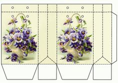 Pansy picture gift bag.  Photo only.  Free printable.  If I only needed a few I would make these, but if I need 50 it would take too much time and printer ink.