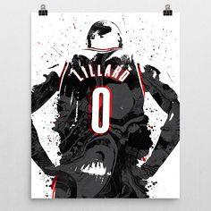 Damian Lillard poster. Lillard is an American professional basketball player for the Portland Trail Blazers of the National Basketball Association (NBA). Lillard is a point guard from Oakland, Califor
