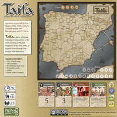 Taifa: Intrigue and War in Medieval Spain. Diy Games, Games To Play, Bored Games, 11th Century, Game Design, Medieval, Spain, War, Cool Stuff
