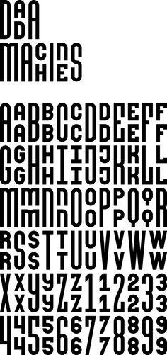 'Dada Machines' font