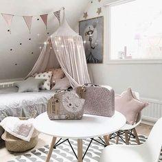 This cute as kids bedroom by Girl Room, Girls Bedroom, Baby Room, Bedroom Decor, Bedrooms, Home Design Decor, Home Decor, Kids Decor, Toddler Bed