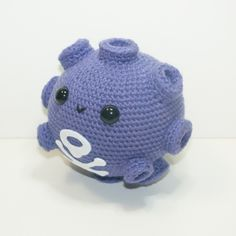 #109 Koffing, the Poison Gas Pokémon. Now available and READY TO SHIP! https://www.etsy.com/listing/204514338/koffing-made-to-order I gave this chubby guy two gas craters to look like his hands. :}