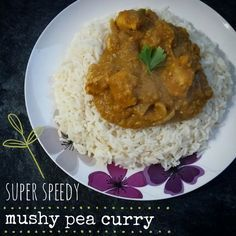 Chicken mushy pea and bean curry
