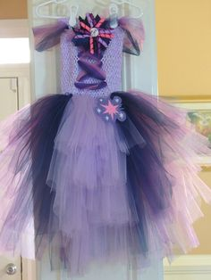 My Little Pony Twilight Sparkle tulle corset dress!  by CandysBowdaciousBows  size 4-6X