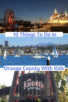 Our guide to the top things to do in Orange County with kids! Travel With Kids, Family Travel, Orange County Restaurants, Orange Country, Best Vacations, Caribbean, North America, Things To Do, Around The Worlds