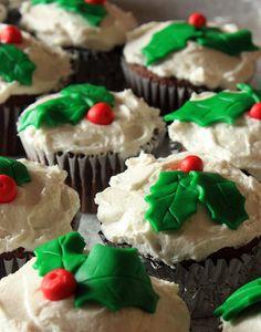 Stampede of Holly Cupcakes by mermaid_shells, via Flickr