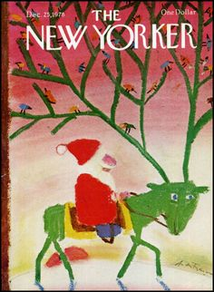 André François : Cover art for The New Yorker, December 25, 1978