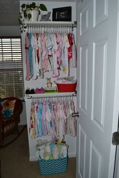 short on closet space- baby nursery