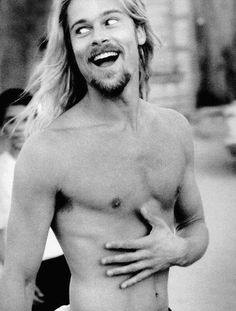 Brad Pitt ~I have this Rolling Stone pic framed from high school...YES...thank you Chad Cox!