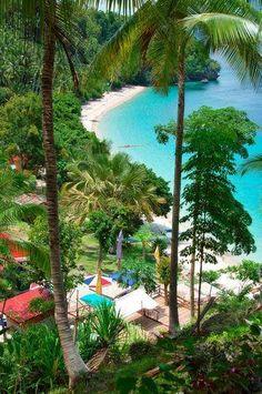 Canibad Beach, Samal, Davao del Sur, Philippines http://vertrekdirect.nl/bestemming/Filipijnen?utm_source=pinterest&utm_medium=textlink&utm_campaign=socialmedia