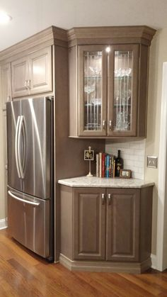 Kitchen Remodel Meme With Fireplace - diy kitchen remodeling kitchen makeover kitchen renovation New Kitchen Cabinets, Kitchen Redo, Kitchen And Bath, Kitchen Storage, Corner Cabinets, Kitchen Floor, Corner Cabinet Kitchen, Corner Liquor Cabinet, Diy Kitchen Makeover