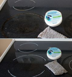 How to clean your ceramic stove - Norwex Spirisponge Review  This says ceramic stovetop but the pictures show a glass stovetop like mine!