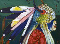 **Ric Gendron**-'Eagle Rib -Blackfoot'-The Art Spirit Gallery of Fine Art