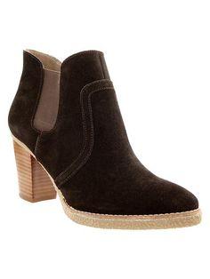 Gap Suede Booties - brown