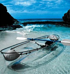 Transparent Canoe - Check it out: http://www.waycoolgadgets.com/transparent-canoe/