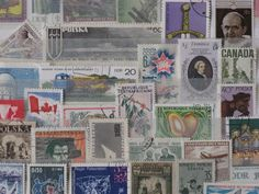 Vintage used stamps from around  the world