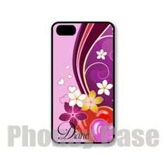 Purple Retro Floral Iphone 4 4s 5 5s 5c Personalized by PhoneyCase, $15.00