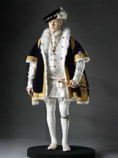 Full length color image of Edward VI aka. Edward VI of England Edward Tudor, by George Stuart.