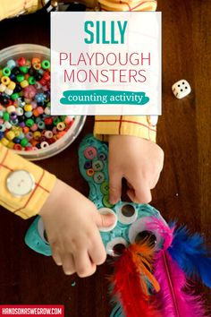 Love this fun way to work counting into play dough! Plus, the seasonal twists are so creative! Motor Skills Activities, Counting Activities, Hands On Activities, Outdoor Activities For Kids, Creative Activities, Preschool Activities, Activity Room, Learning Numbers, Play Dough