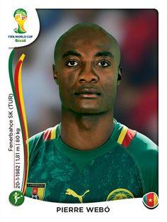 106 Pierre Webó - Camerún - MUNDIAL BRASIL 2014