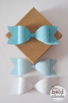Make your own paper bows in just a few minutes, plus free printables!