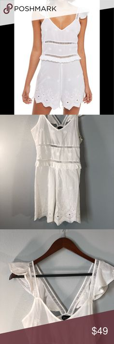 TopShop Ladder Broderie Playsuit Size 6 Brand new! Comes from a smoke free home Topshop Other