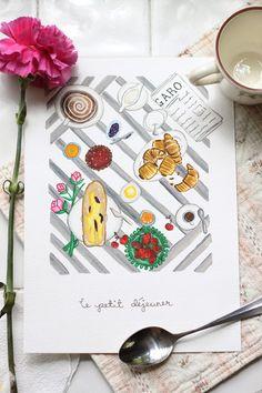 Le petit déjeuner Illustration ©2014 Amandinette Paperie.