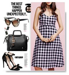 """""""Zaful.com: The best things happen unexpectedly!!!"""" by hamaly ❤ liked on Polyvore featuring Sigma Beauty, MAC Cosmetics, STELLA McCARTNEY, ootd, dresses, sunglasses, bags and zaful"""