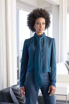 When you work 9-5 but you slay all day.     #workattire #corporateattire #officewear #executivecouture #whitecollarattire #officejobfashion #corporatefashion #blouse #fierce #strongwomen #customcouture