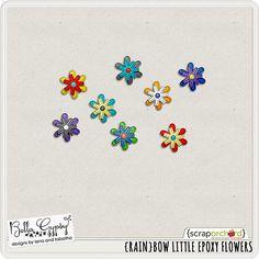 Scrapbooking TammyTags -- TT - Designer - Bella Gypsy, TT - Item - Element, TT - Thing - Flower