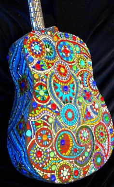 mosaic guitar- AWESOME.