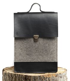 Henri- Bag - Felt and Leather - CANTIN - Permanent collection #fashion #montreal #handmade  #bags