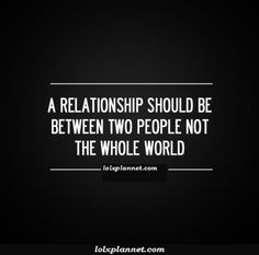Keep your relational problems confined to the people within that relationship!!    What God has joined together, let no one separate.