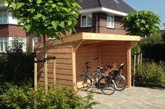 Fotogalerij van recent opgeleverde projecten Garden Bike Storage, Backyard Storage Sheds, Shed Storage, Garage Velo, Bike Shelter, Shed Interior, Wooden Bicycle, Dream Beach Houses, Bike Shed