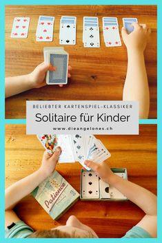 Patience bzw. Solitaire ist ein toller Spielklassiker mit Karten, den auch Kinder problemlos spielen können. Das Beste: Das Kartenspiel fördert die Geduld und die Konzentration und kann alleine gespielt werden. Wir erklären euch, nach welchen Regeln man Patience oder Solitaire spielt. #Patience #Solitaire #DieAngelones Solitaire, Monopoly, Happy, Winter, Board Games, Kids Learning, Media Literacy, Winter Time, Ser Feliz