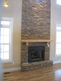 Stacked Stone Fireplace Surround dry stacked stone fireplace | designdennis | pinterest | dry