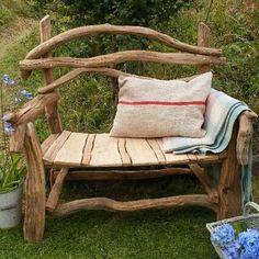 Rustic Woodland Bench  #Amazmerizing