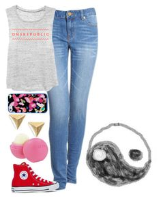 """OneRepublic*"" by cristinapatricia ❤ liked on Polyvore featuring Michael Kors, Converse, Stella & Dot and Eos"