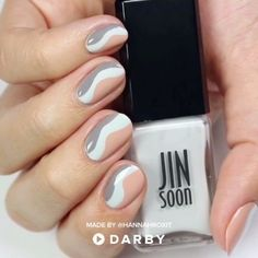 Learn how to JINsoon Wavy Manicure. Discover the best DIY Ideas and How to Videos at Darby Smart. Diy Nails, Cute Nails, Pretty Nails, Smart Nails, Nail Polish, Nail Nail, Nail Art Videos, Beautiful Nail Designs, Nail Tutorials