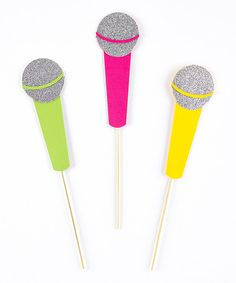 Love this Glow Party Microphone Prop - Set of 3 by PhotoBoothgirls on #zulily! #zulilyfinds